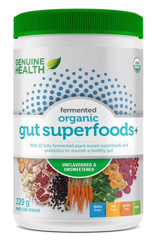 GENUINE HEALTH Fermented Organic Gut Superfoods+ (unflavoured - 229 gr)