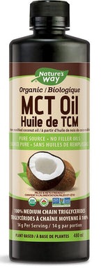 NATURE`S WAY Organic 100% MCT Oil (480 ml)