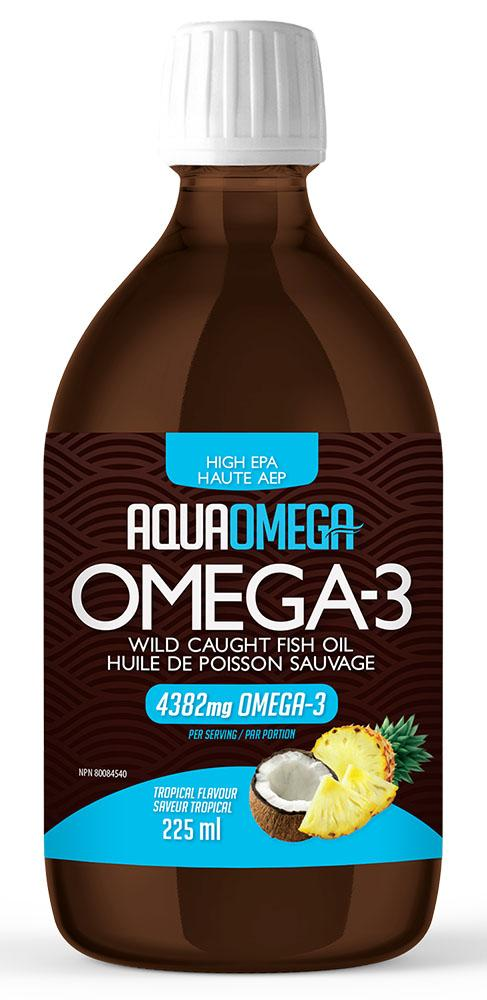 AQUAOMEGA High EPA Omega 3 (Tropical - 225 ml)
