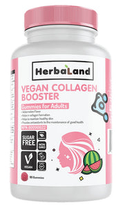 HERBALAND Vegan Collagen Booster for Adults ( Watermelon - 90 gummies)