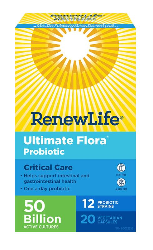 RENEW LIFE Ultimate Flora Critical Care Probiotic  50 Billion (Shelf Stable - 20 V-Caps)