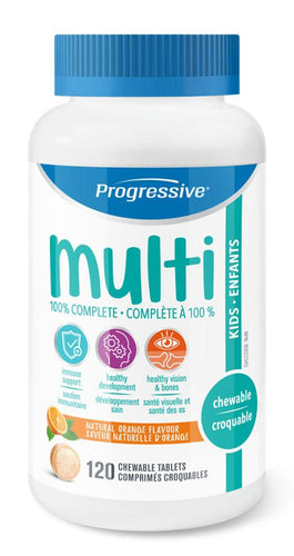 PROGRESSIVE Multi Vitamins for Kids (Natural Orange - 120 Tabs)