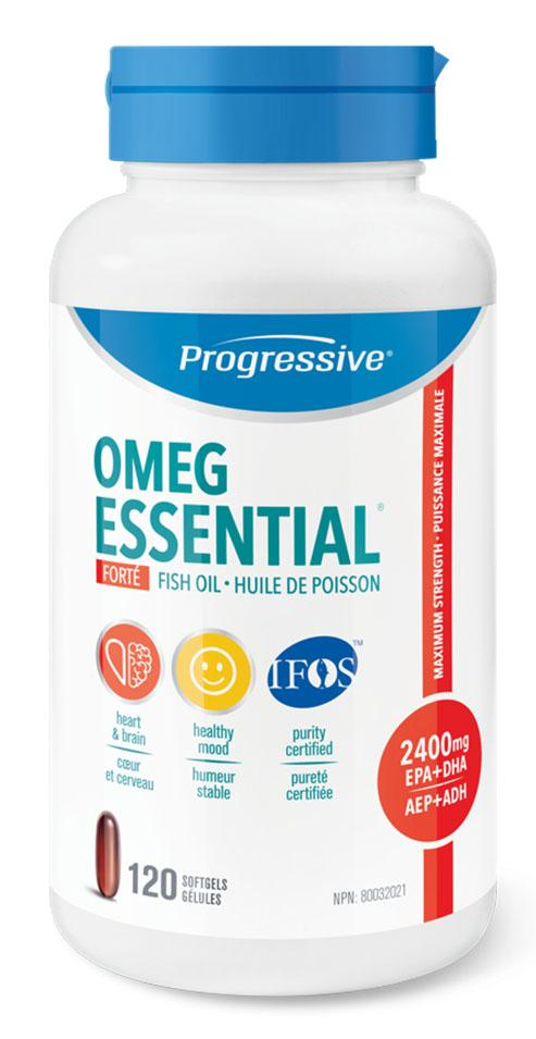PROGRESSIVE OmegEssential Forte Fish Oil (120 Softgels)
