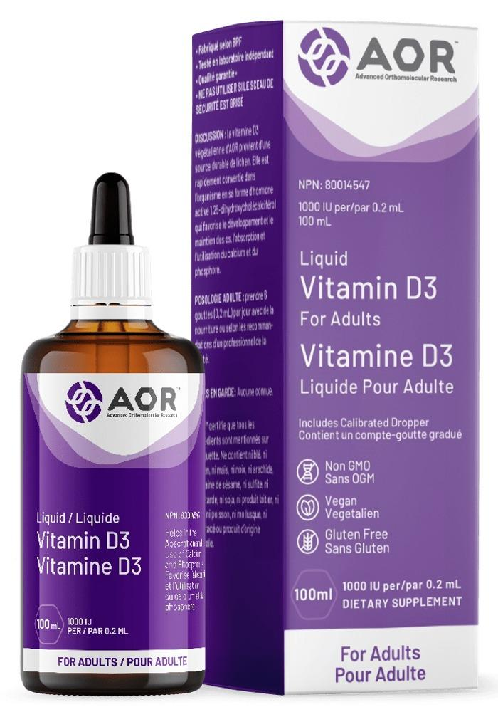 AOR Liquid Vitamin D3 (1000 iu - 100 ml)