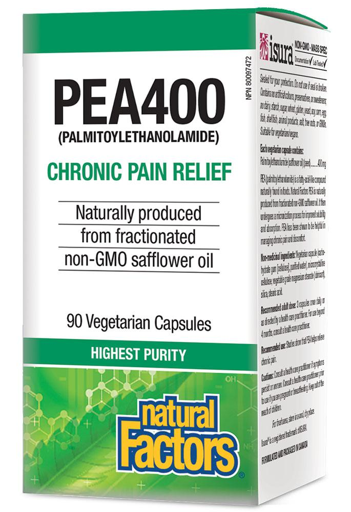 NATURAL FACTORS PEA400 (90 Veg Caps)