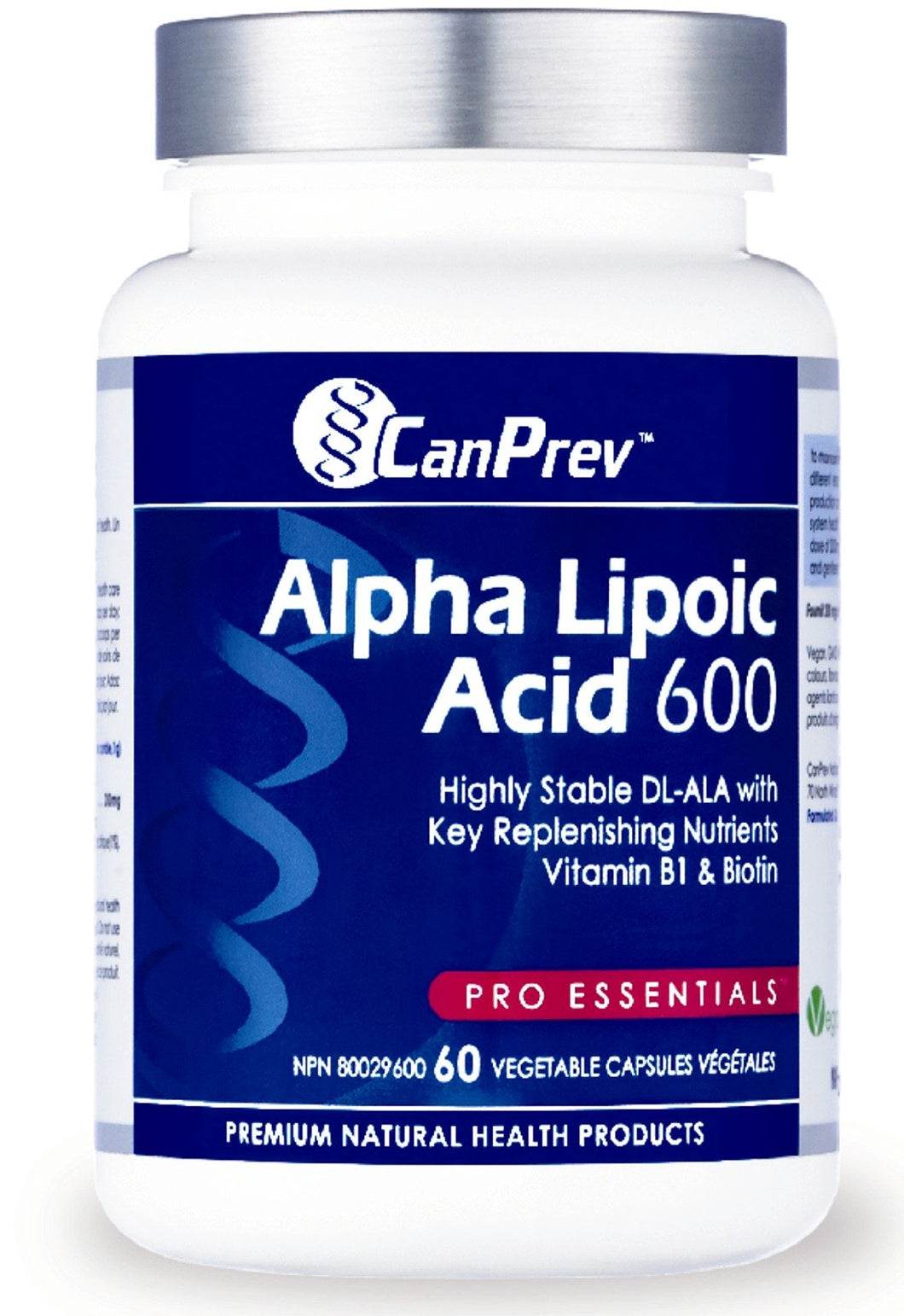 CANPREV Alpha Lipoic Acid 600 mg (60 caps)