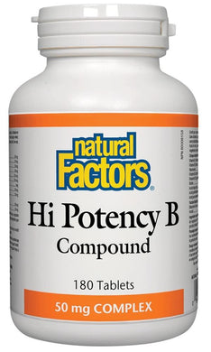 NATURAL FACTORS High Potency B-Compound (50 mg - 180 tabs)