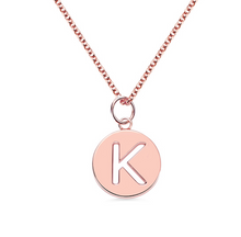 Load image into Gallery viewer, Initial Disc Necklace - Element of M