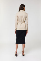 Mackage Azara Women's Short Wool Coat with Belt