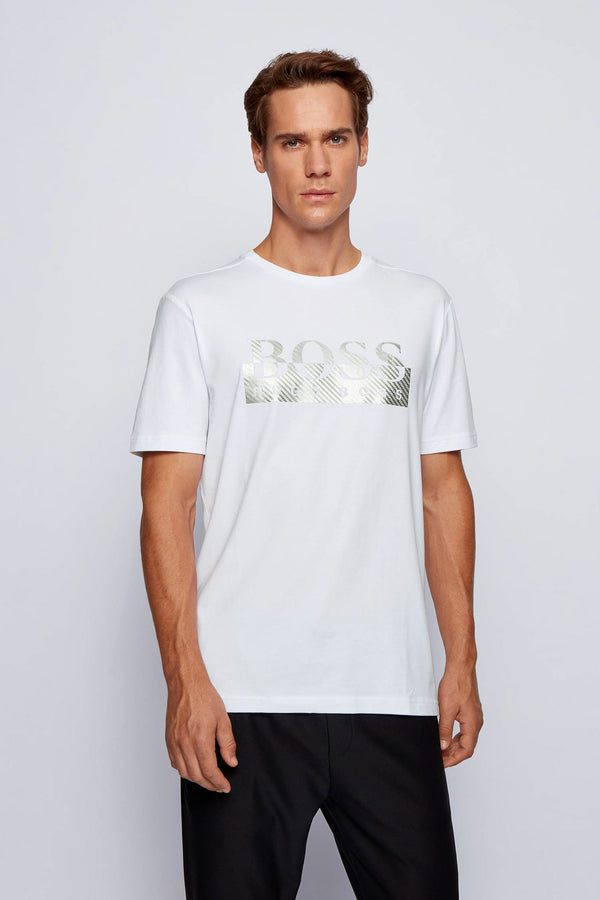 Boss Tee 4 Metallic Logo T-Shirt