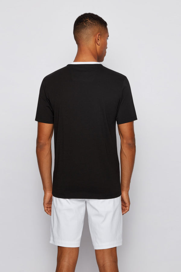 Boss Teeonic Regular-Fit Logo T-Shirt In Bionic® Single Jersey