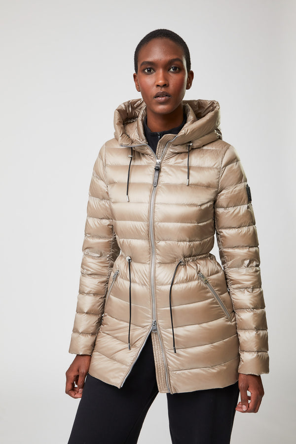 Mackage Ivy Women's Light Down Coat with Ruched Waist