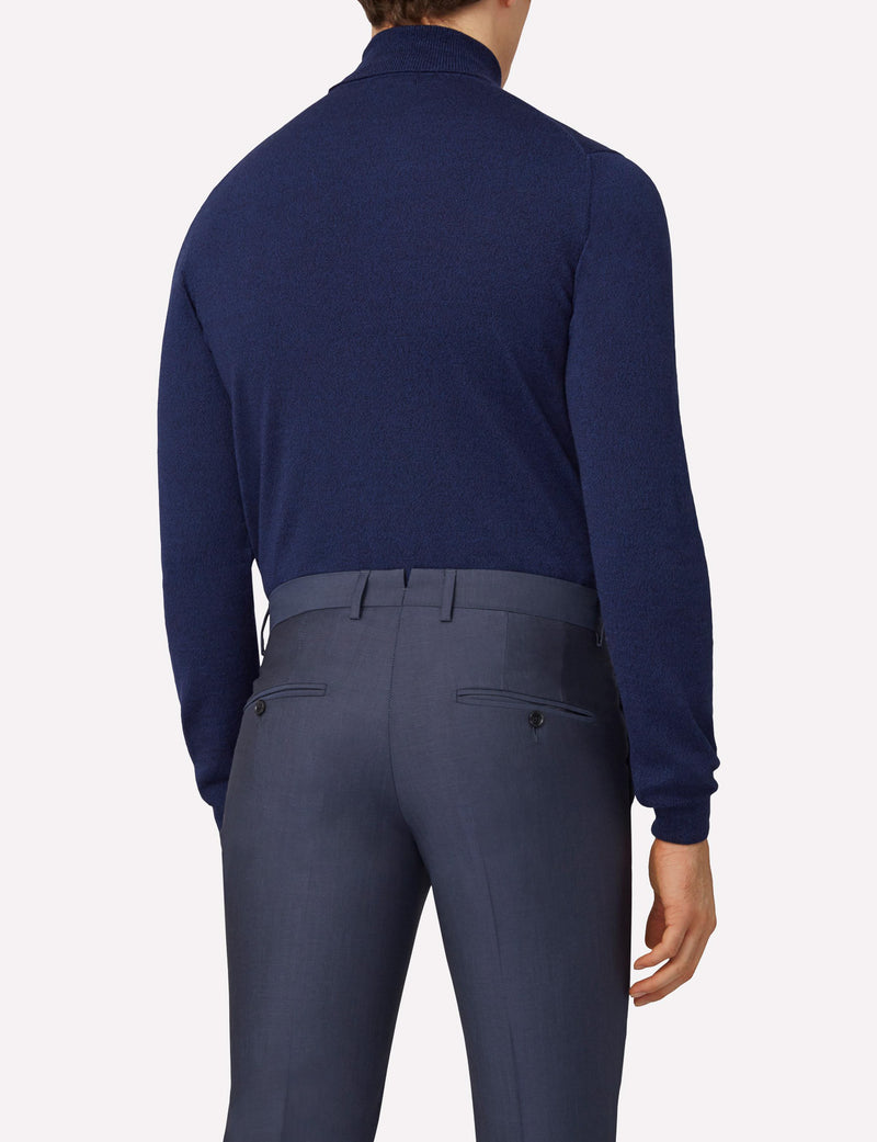 J. Lindeberg Lyd Merino Turtleneck In JL Navy