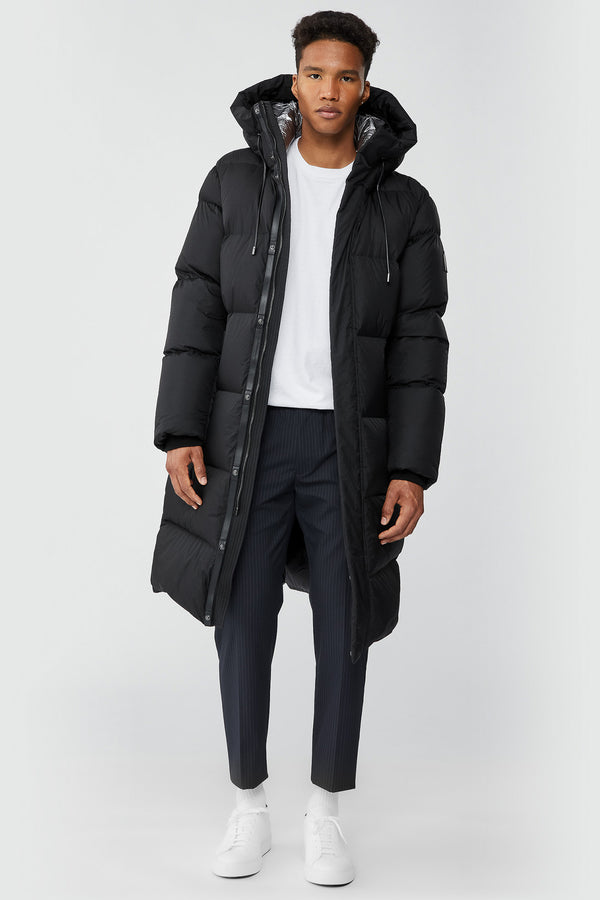 Mackage Elio Foil Shield Maxi Down Coat With Pillow Collar