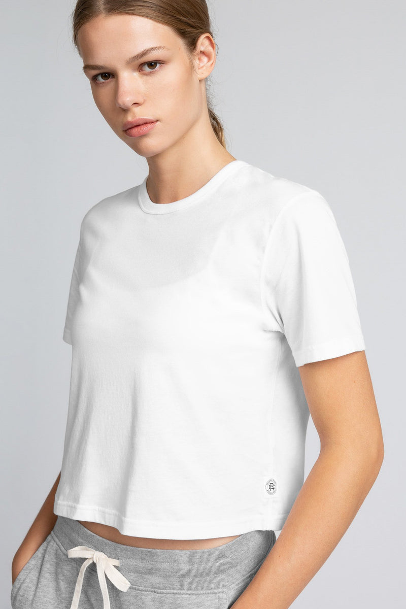REIGNING CHAMP WOMENS PIMA JERSEY BOX FIT T-SHIRT