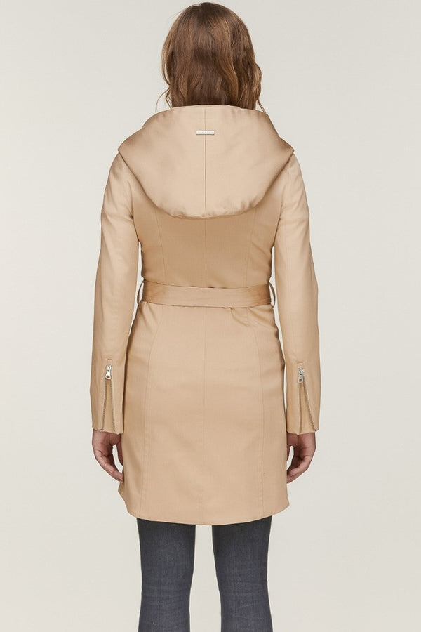 Soia & Kyo Arabella Hooded Trench in Almond