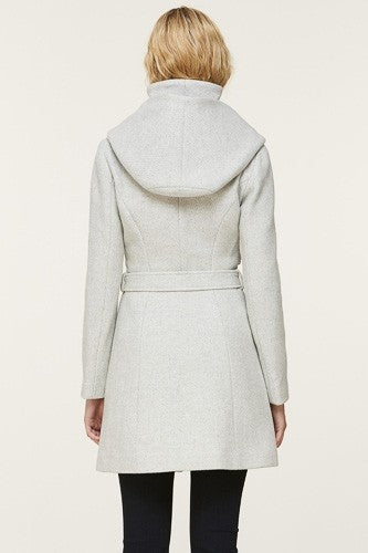 Soia & Kyo Arya Slim-Fit Wool Coat in Silverash