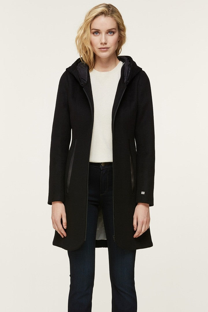 Soia & Kyo Charlena-N Slim-Fit Wool Coat in Black