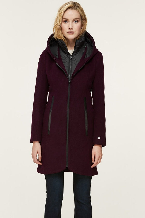 Soia & Kyo Charlena-XN Slim-Fit Wool Coat in Dewberry