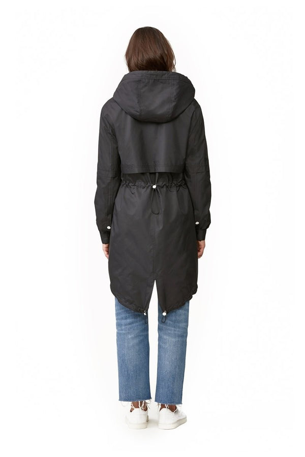 Soia & Kyo Desiree Knee-Length Water-Repellent Jacket in Black