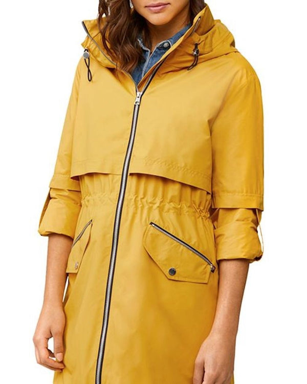 Soia & Kyo Desiree Knee-Length Water-Repellent Jacket in Sunflower