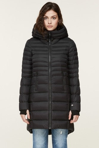 Soia & Kyo Geana Lightweight Down Coat in Black