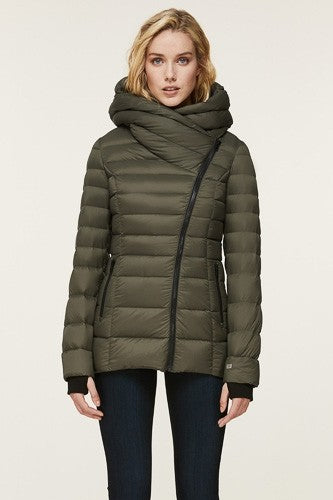 Soia & Kyo Jacinda Lightweight Down Coat in Army