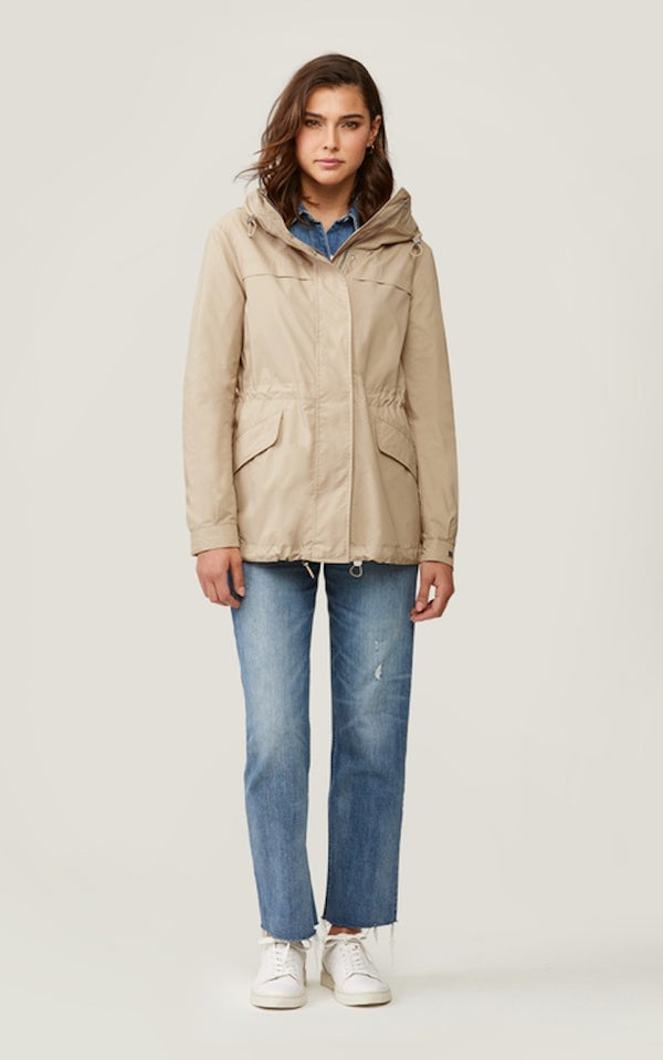 Soia & Kyo Joselyn Straight-Fit Water-Repellent Jacket in Almond