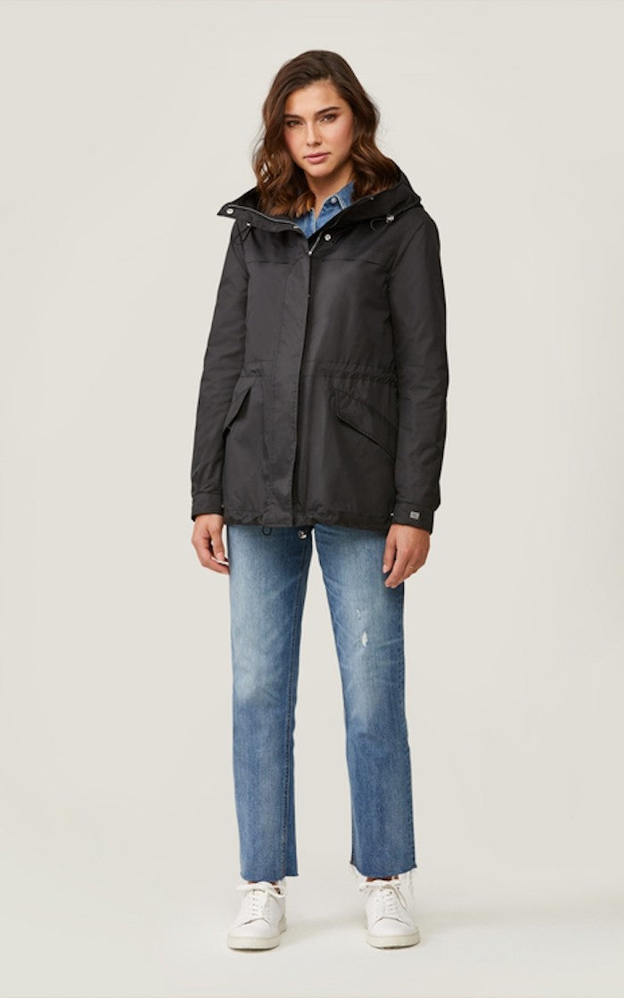Soia & Kyo Joselyn Straight-Fit Water-Repellent Jacket in Black