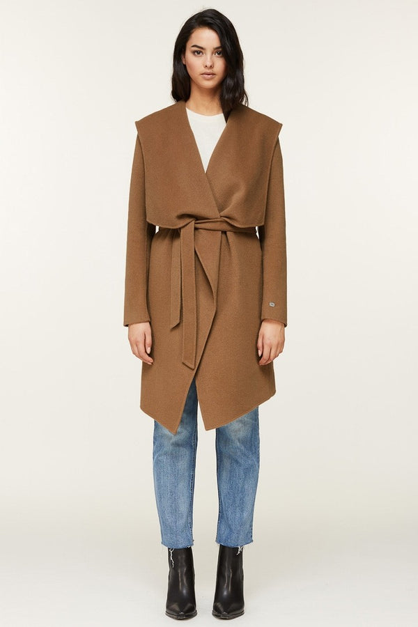 Soia & Kyo Samia Double-Face Wool Coat in Camel