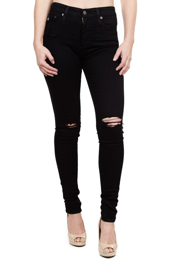 AG Jeans Farrah Skinny in 1 Year Black Pond