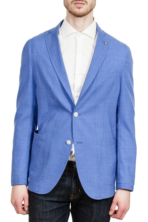 Angelo Nardelli Two-Button Blazer in Blue