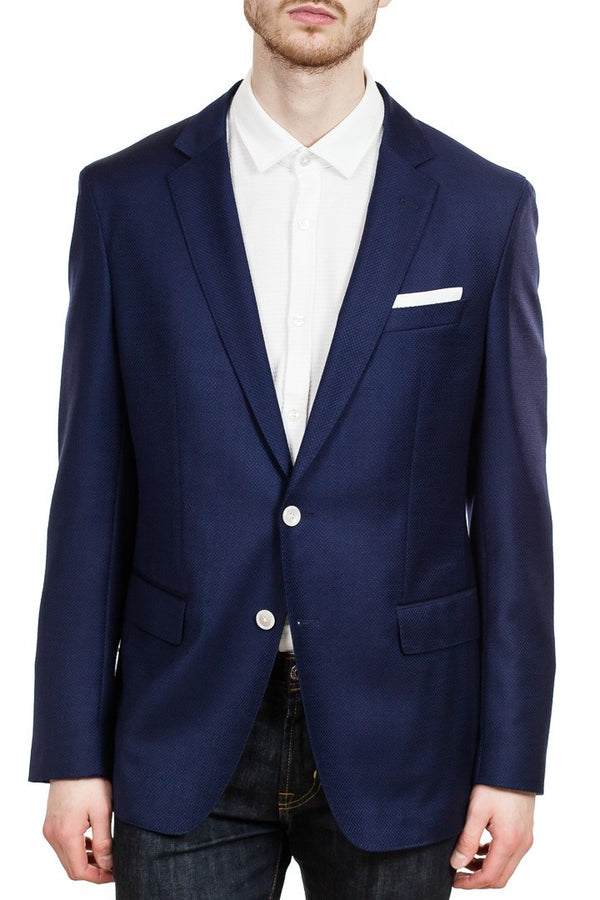 BOSS Hartlay Italian Woven Blazer in Navy