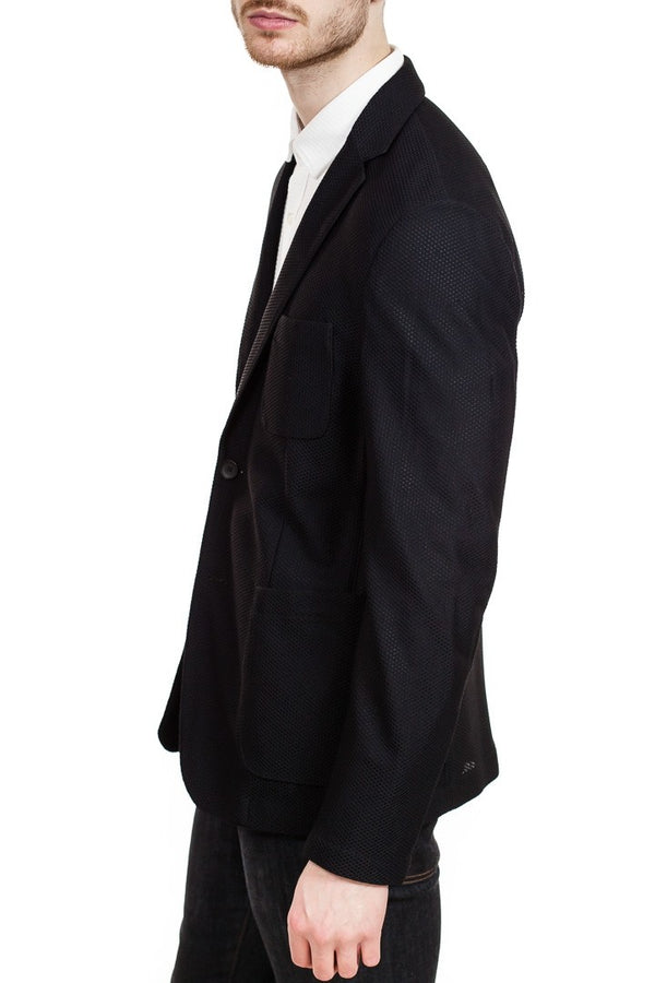 BOSS Noswen-J Light-Weight Stretch Blazer in Black