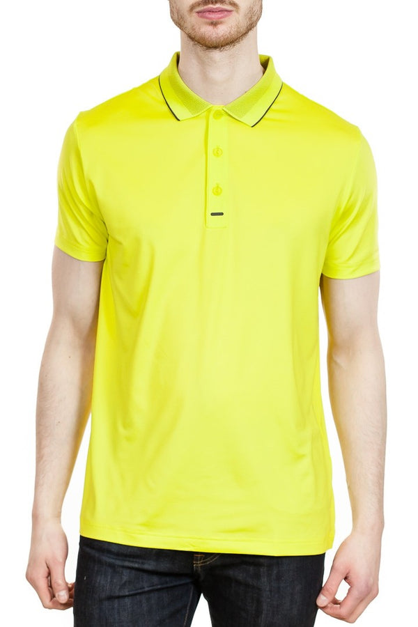 BOSS Paultech Pro SL Slim-Fit Polo in Yellow