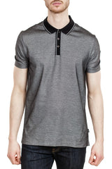 BOSS Piket 13 Cotton Polo in Black