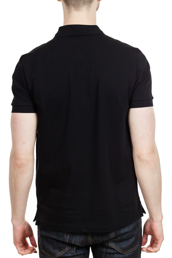 BOSS Piro Pima Cotton Polo Shirt in Black