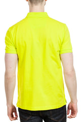 BOSS Piro Pima Cotton Polo Shirt in Yellow