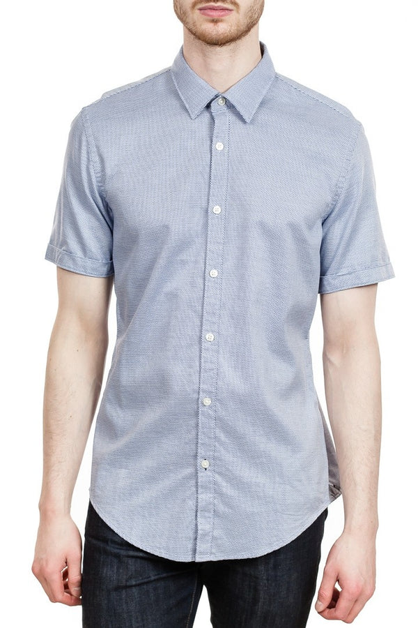 BOSS Ronn 2 Slim-Fit Sport Shirt in Blue