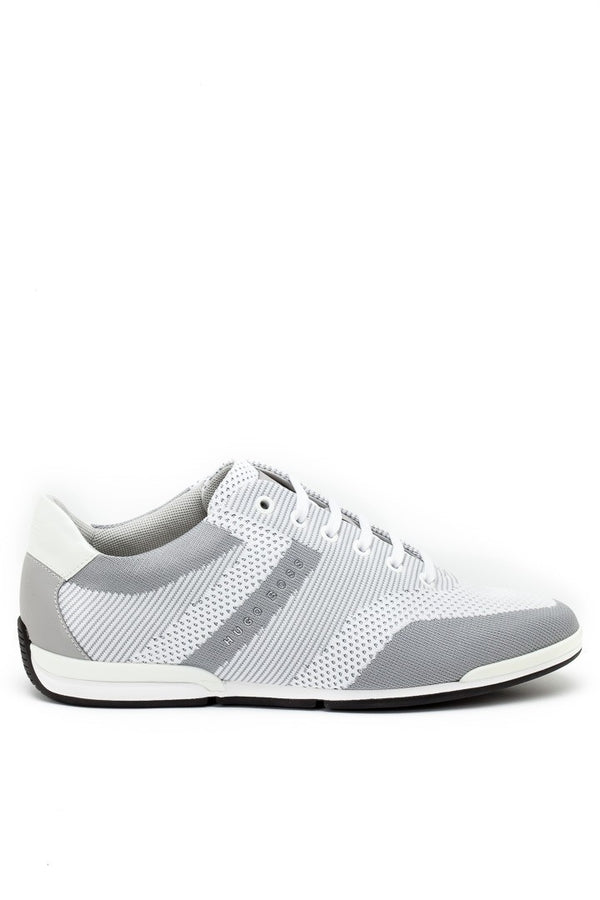 Hugo Boss Saturn Low-Profile Knit Sneakers in Light Grey