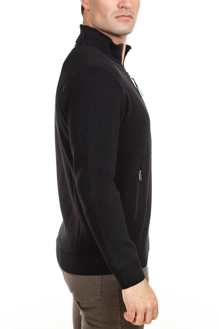 Brax - Jake Full Zip Sweater - Black