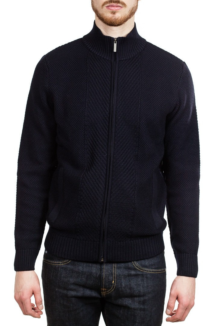 Bugatti Men&#39 s Knit Jacket in Navy