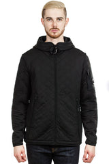 C.P. Company Scuba Fleece Lens Full Zip Hooded Sweatshirt in Black