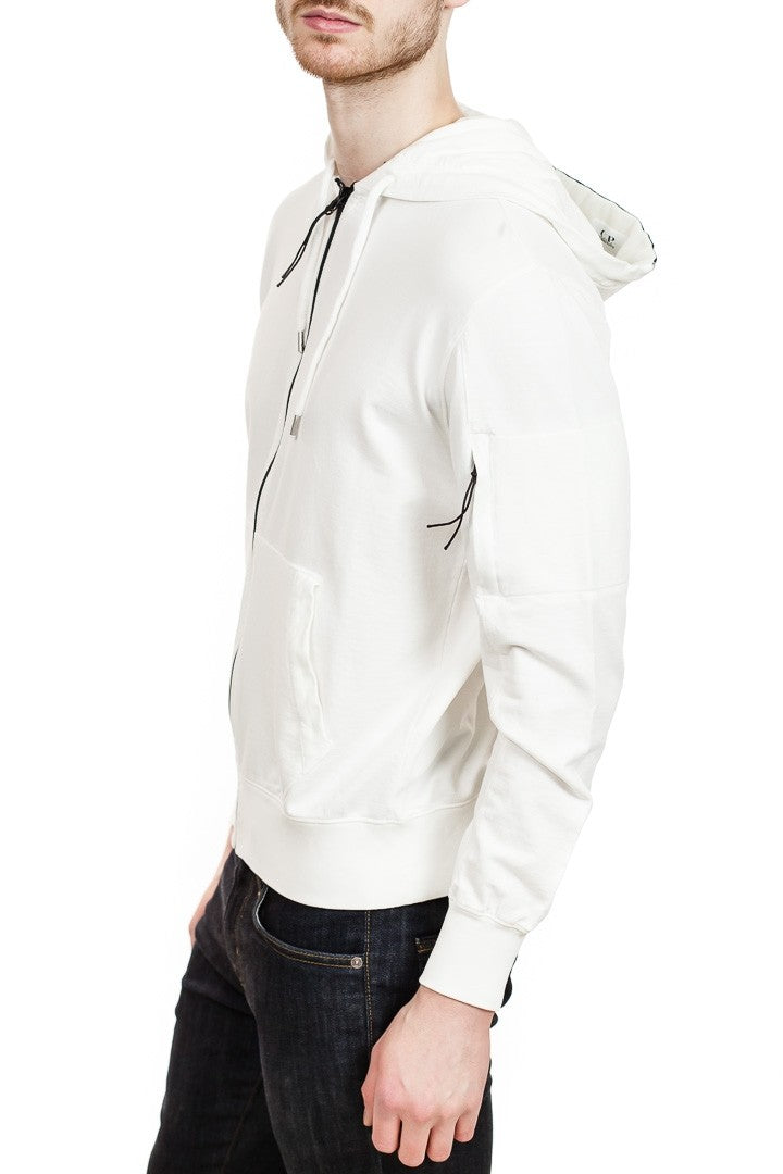 C.P. Company Cotton Zip Hoodie in White