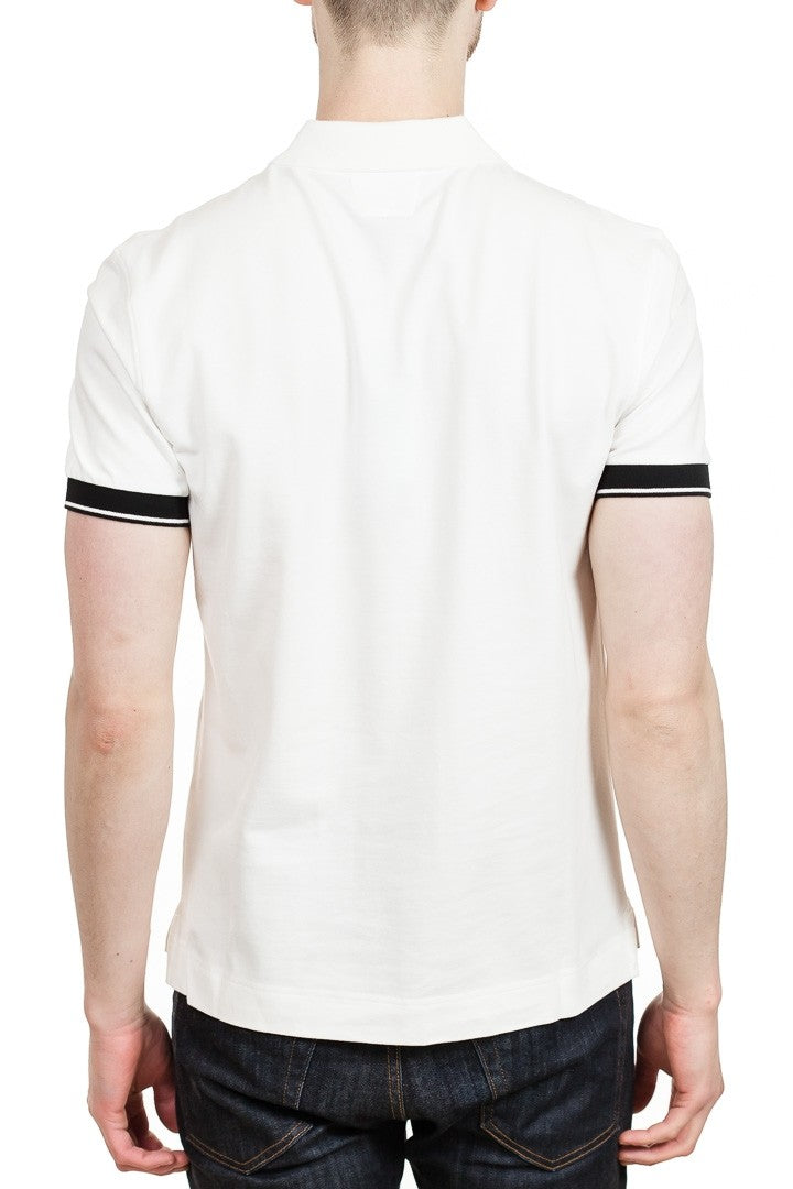 C.P. Company Zip Neck Polo in White