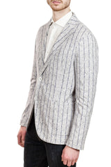 Circolo Two-Button Jersey Jacket in Heathered Grey