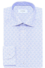 Eton Slim Fit Printed Poplin Shirt