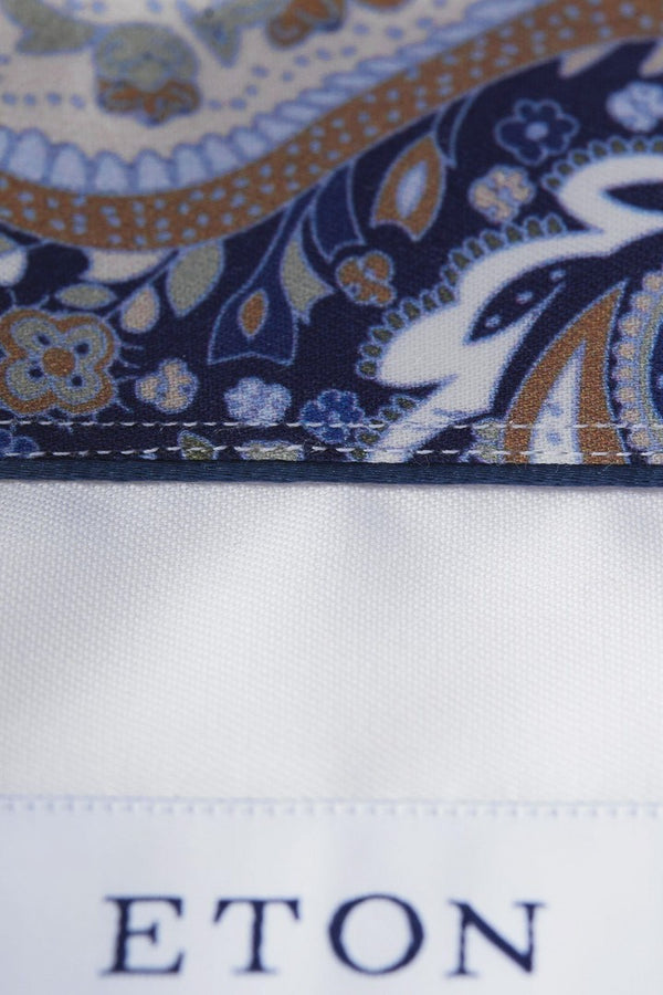 Eton Paisley Detail Shirt in White