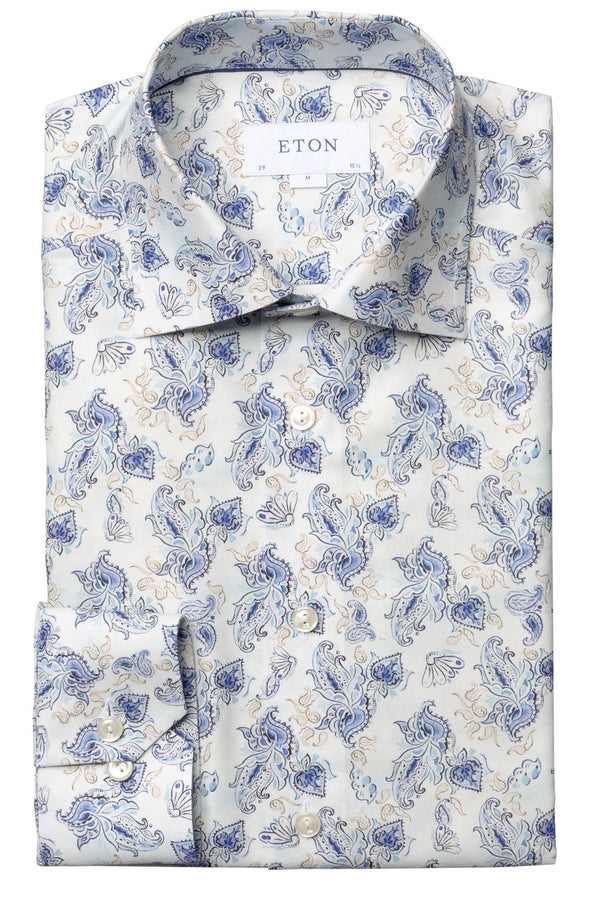 Eton Watercolour Paisley Slim Fit Shirt