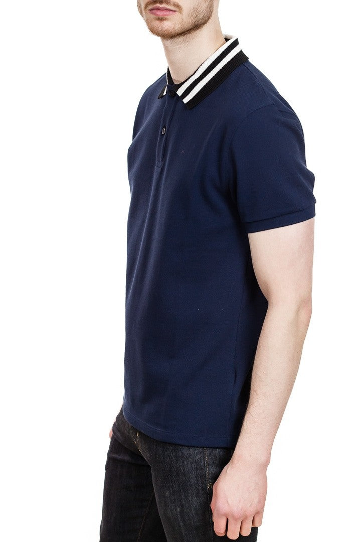 J. Lindeberg Julian Fine Pique Polo in Navy